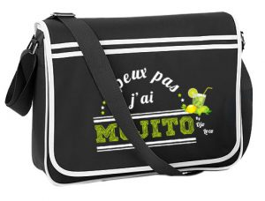 sac besace homme et femme Think different Drink Mojito